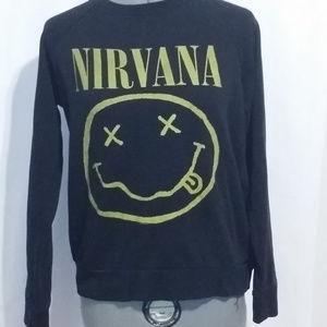 Forever 21 Small Nirvana 1990s Black Sweatshirt